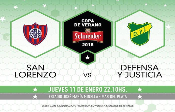 San Lorenzo y Defensa y Justicia inician el Torneo de Verano. (Facebook)