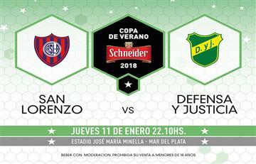 San Lorenzo enfrenta a Defensa y Justicia en el inicio del Torneo de Verano