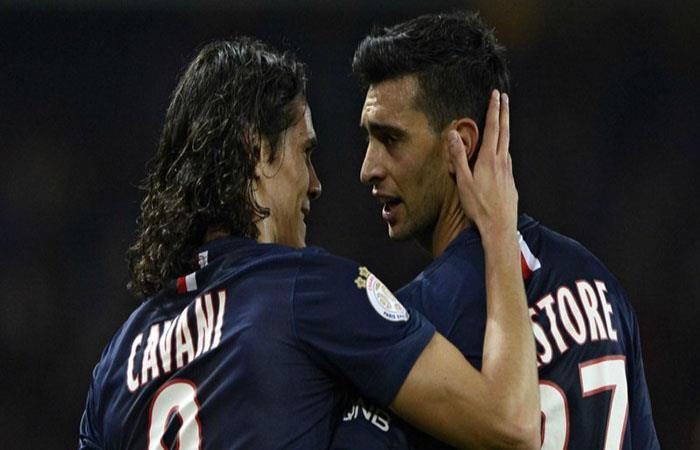 Edinson Cavani y Javier Pastore fueron sancionados. (AFP)