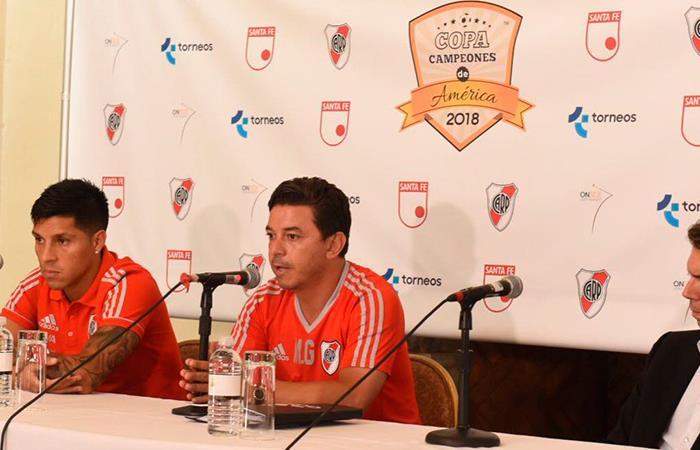 Marcelo Gallardo habló de Zelarayán y Romero en conferencia de prensa (Foto: Twitter)