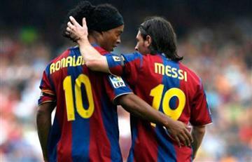 La confesión de Ronaldinho sobre Lionel Messi