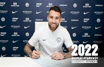 Nicolás Otamendi renueva con el Manchester City hasta el 2022
