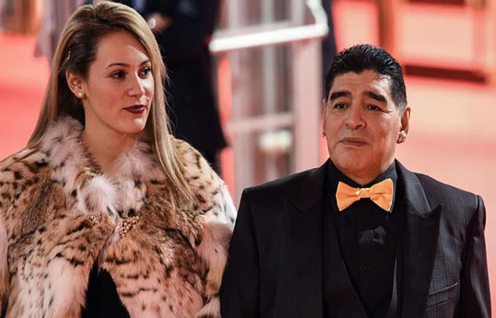Rocío Oliva y Diego Armando Maradona. (AFP). Foto: AFP