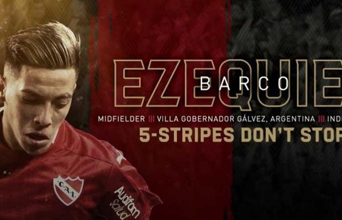 Ezequiel Barco emigró a la MLS a jugar por el Atlanta United (Foto: Twitter)