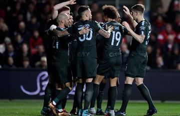 El City ganó 3-2 al Bristol City con gol de Agüero por la Copa de la Liga