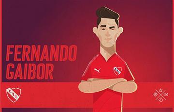 Fernando Gaibor es presentando como nuevo jugador de Independiente de una forma peculiar