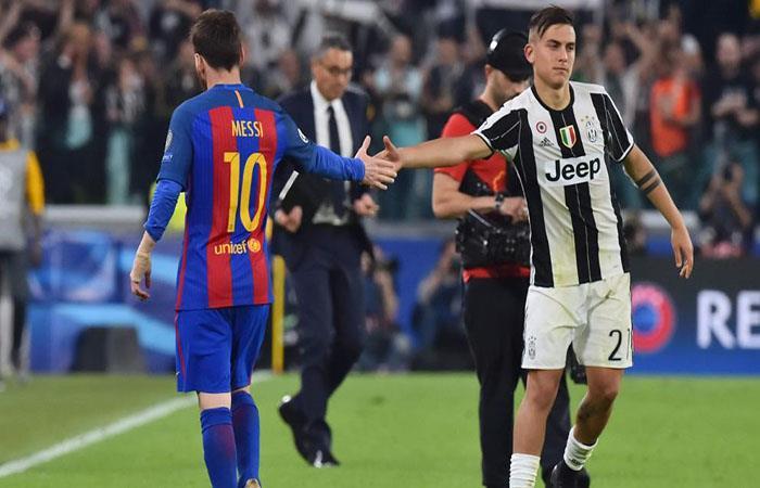 Lionel Messi y Paulo Dybala. (AFP). Foto: AFP