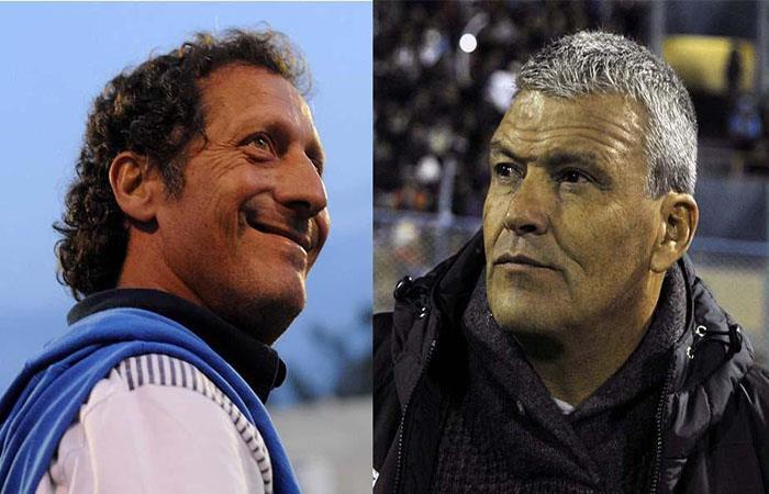 Pedro Troglio y Néstor Clausen se enfrentaron en la fase previa de la Copa Libertadores. (AFP). Foto: AFP