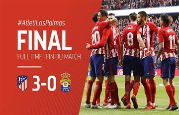 Atlético de Madrid de Diego Simeone goleó a Las Palmas por LaLiga