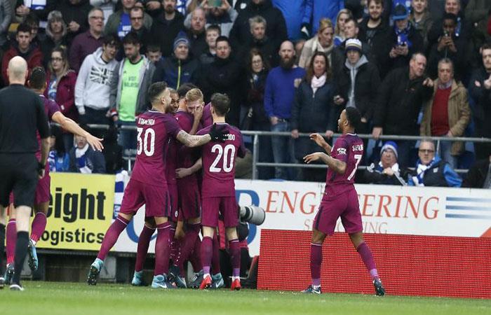 Manchester City sigue imparable en la temporada. (AFP)