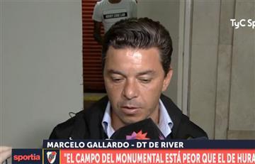 """Marcelo Gallardo: """"El campo del Monumental está peor que el de Huracán"""""""