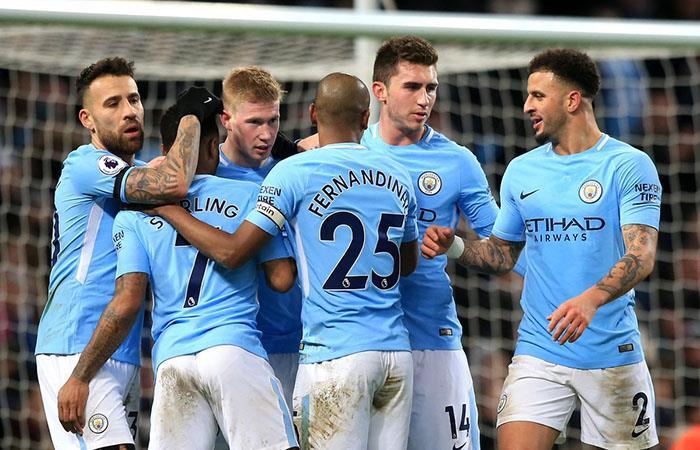El City del Kun y Otamendi ganaron 3-0 sobre e WBA y alargan su liderato en la Premier League. Foto: Twitter