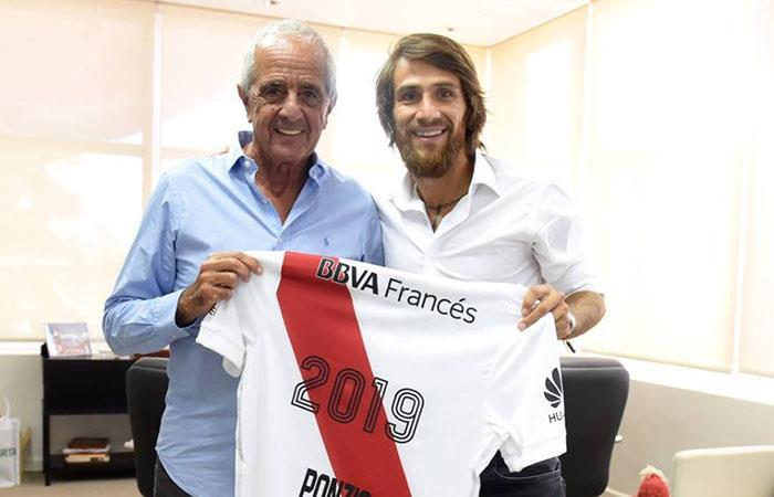 Leo Ponzio firma hasta el 2019 con el 'Millonario'. Foto: Twitter