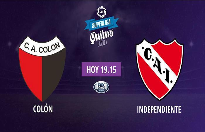 Colón vs Independiente EN VIVO ONLINE por la Superliga