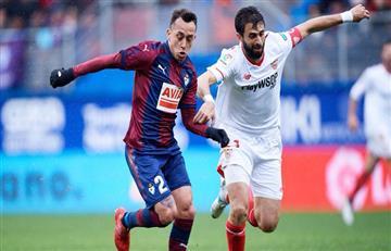 Eibar goleó al Sevilla de Nicolás Pareja y Éver Banega