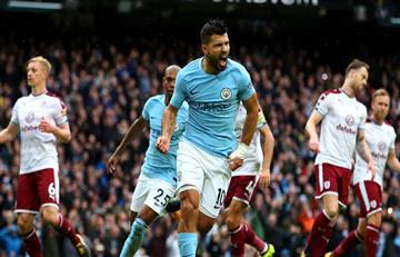 Manchester City EN VIVO ONLINE con Agüero y Otamendi igualó 1-1 con el Burnley