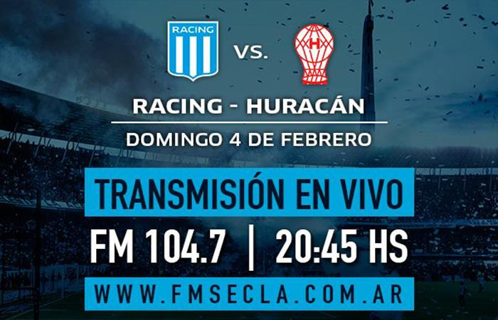 Racing vs Huracán. Foto: Twitter