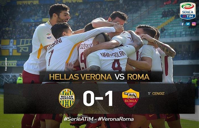 La Roma derrotó al Hellas Verona. Foto: Facebook