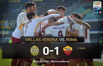 La Roma con Perotti y Fazio derrotó al Hellas Verona y se acerca a Champions