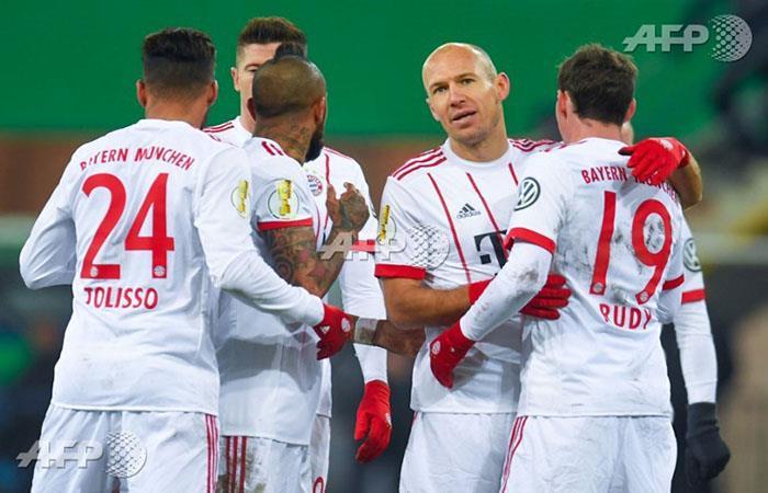 Bayern Munich goleó y clasificó a semifinales de Copa de Alemania. (AFP)