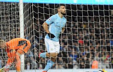 El 'Kun' Agüero le da la victoria al City con un póker de goles sobre el Leicester
