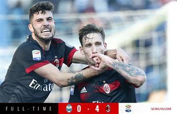 Gol de Lucas Biglia en la goleada del Milan sobre el SPAL
