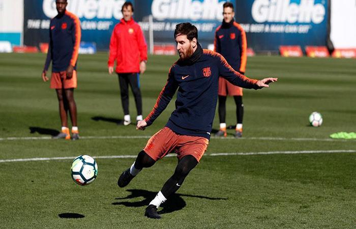 Lionel Messi se alista para recibir al Getafe. Foto: Facebook