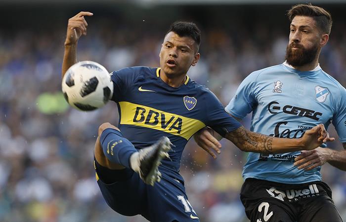 El ataque 'Xeneize' compuesta de Wanchope y Bou, carecen de gol. Foto: Twitter