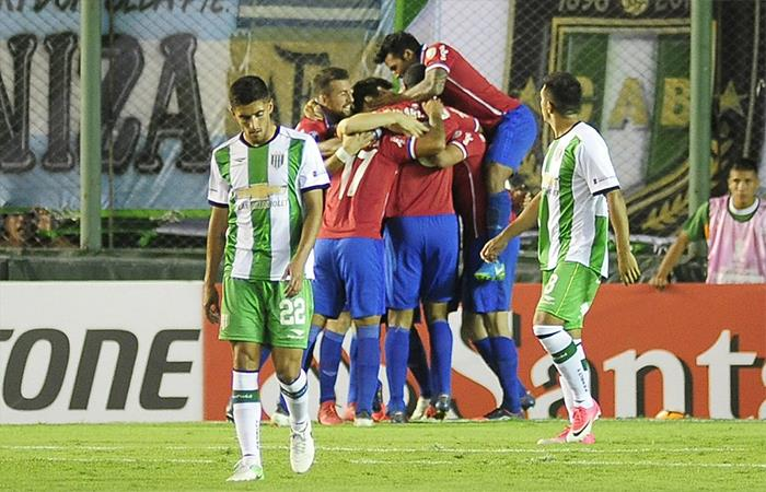 Banfield igualó 2-2 ante Nacional (URU) (Foto: Twitter)