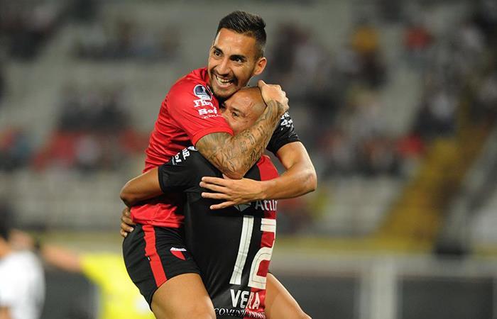Colón se impuso ante Zamora al vencerlo 2 por 0 por la Copa Sudamericana (Foto: Twitter)
