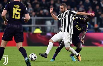 Juventus logró un agrio empate ante el Tottenham a pesar del doblete de Gonzalo Higuaín