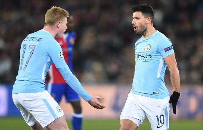 El City logró sentenciar casi la serie ante el Basilea ganándole 4-0. Foto: AFP
