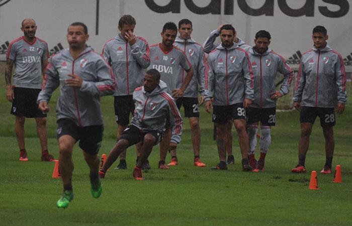 Figura de River Plate se lesionó en el entrenamiento. Foto: Facebook