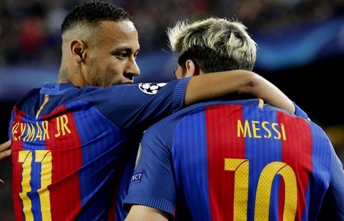 Neymar y Lionel Messi. (AFP). Foto: AFP