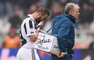 Así fue la lesión de Gonzalo Higuaín