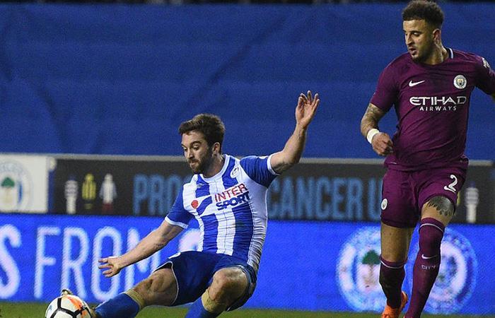 El City de los argentinos no pudieron ante el Wigan por la FA Cup. Foto: Twitter