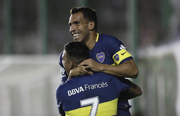 El 'Apache' celebrando el único gol que le dio la victoria al 'Xeneize' (Foto: Twitter Boca Juniors)