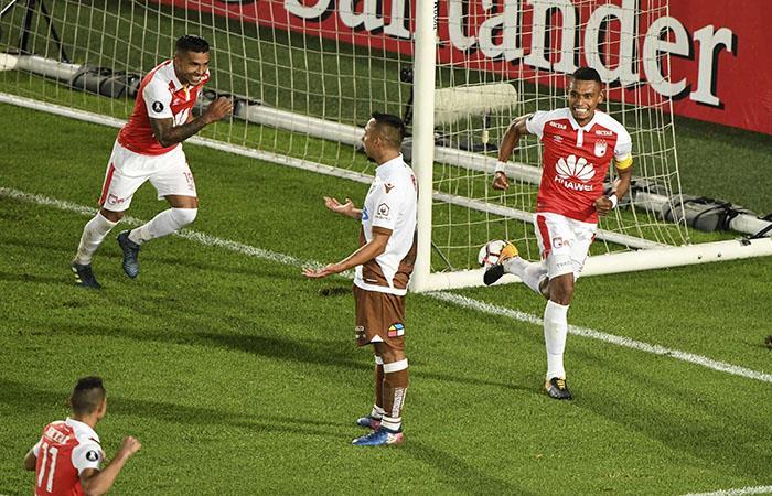 Independiente Santa Fe será rival de River Plate en la Copa Libertadores. (AFP). Foto: AFP