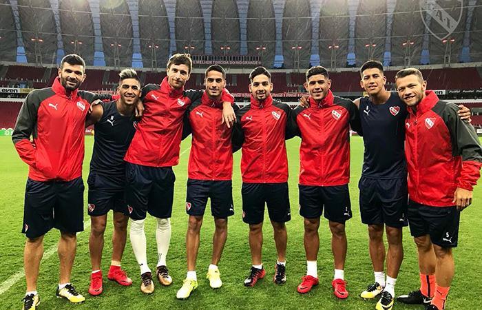 El 'Rojo' ya está listo para enfrentar a Gremio por la Recopa Sudamericana (Foto: Twitter)