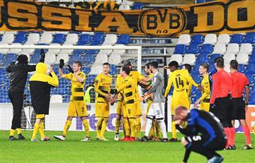 Atalanta no paso del empate ante el Borussia Dortmund y quedó fuera de la Europa League