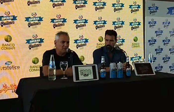 Madelón y Domínguez brindaron una conferencia de prensa previo al clásico (Foto: Facebook)