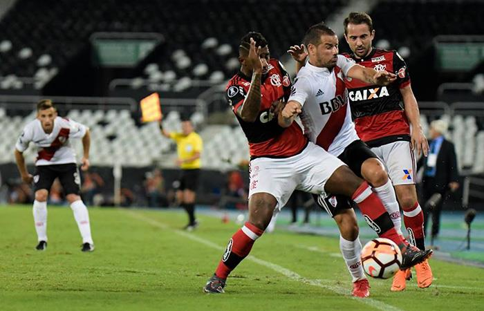 River logró un empate fundamental en Río ante Flamengo (Foto: Twitter)