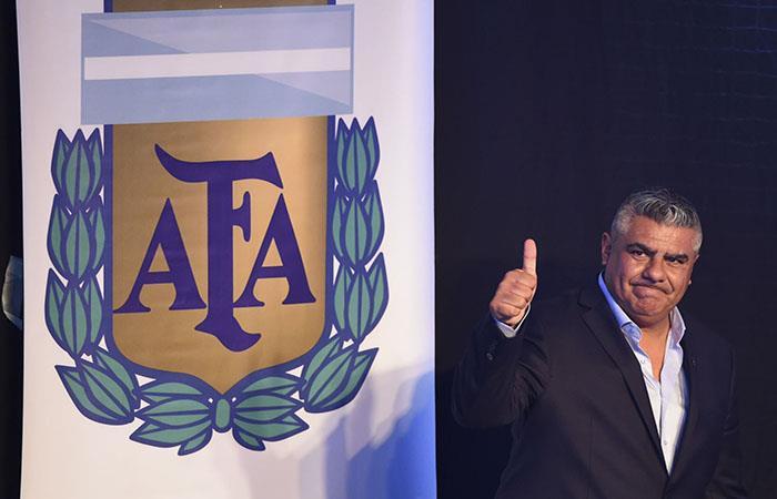 El presidente de la AFA, Claudio Tapia. (AFP). Foto: AFP