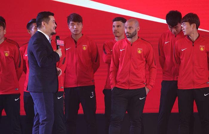 Javier Mascherano en la presentación oficial del Hebei Fortune. (FOTO: Facebook Javier Mascherano)