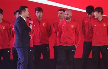 Javier Mascherano fue el protagonista de la presentación del Hebei Fortune de China