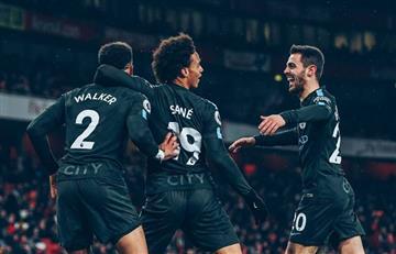 Manchester City goleó al Arsenal y cada día se afianza en la punta de la Premier League