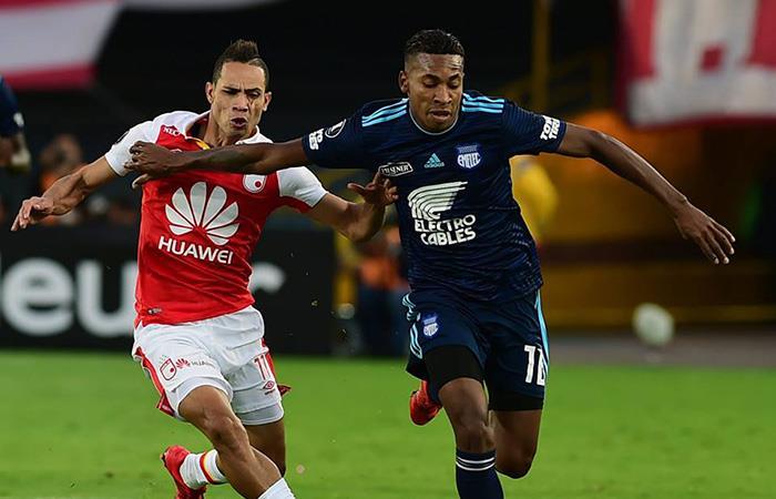Emelec consiguió un empate importante en su visita a Bogotá al medirse ante Santa Fe (Foto: Facebook)