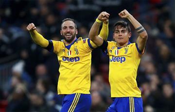 La Juventus con Gonzalo Higuaín y Paulo Dybala clasificó a cuartos de la Champions League