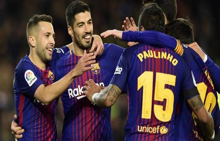 El Barcelona sin Lionel Messi busca asegurar LaLiga en su visita al Málaga. (AFP). Foto: AFP
