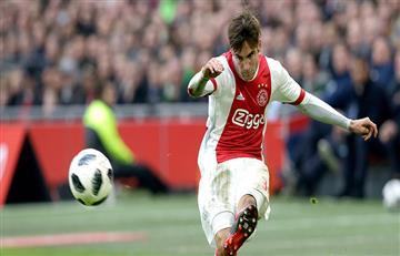 El primer gol de Nicolás Tagliafico en el Ajax